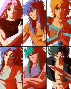 Mu, Milo, Aioria, Saga, Camus, Shura Gold Saints Fanart by MCAshe.deviantart.com on @DeviantArt