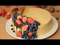 Cake Decorated With Fruit, Salted Caramel Frosting, Cake Youtube, Cheesecakes, Cake Decorating, Pudding, Food, Dulce De Leche, Salted Caramel Ice Cream