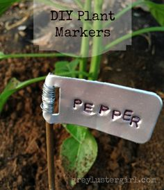 Beau Learn How To Create Garden Markers For Your Container Garden, Choose From  This Extensive List Of 32 DIY Plant Marker Ideas!