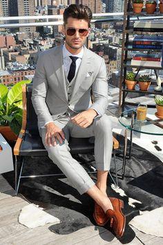 Hickey Freeman Menswear Spring Summer Primavera Verano 2016 New York Fashion Week - #Menswear #Trends #Tendencias #Moda Hombre