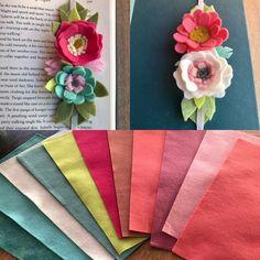 New felt, new bookmarks, sunny day = JOY!!!☀️