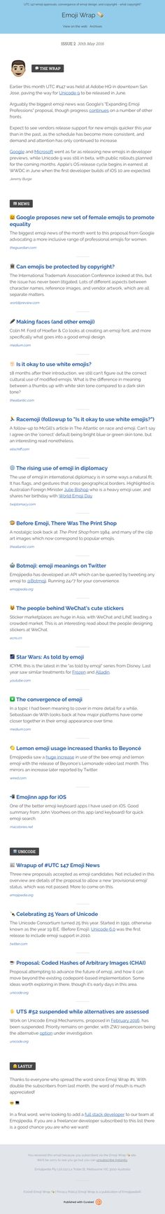 Emoji Wrap 🌯 – Issue 2 - Really Good Emails