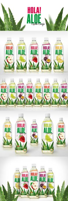 HOLA ALOE Flavored drinks with aloe