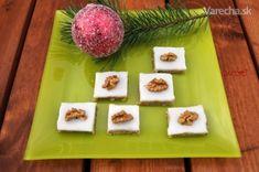 Nepečené ořechové čtverečky s rumovou polevou (fotorecept)