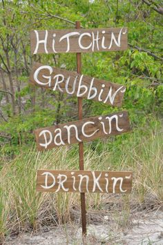 DIY Wedding sign, great for a southern wedding!