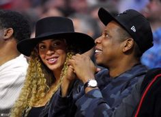 Beyoncé & Jay Z at the Clippers vs. Thunder game at the Staples Center in LA March 2nd, 2016
