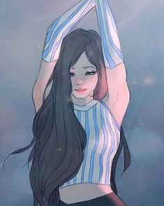 by Bommi Ho Kpop Drawings, Cute Drawings, Fan Art, Character Art, Character Design, Digital Art Girl, We Are The World, Kpop Fanart, Anime Art Girl