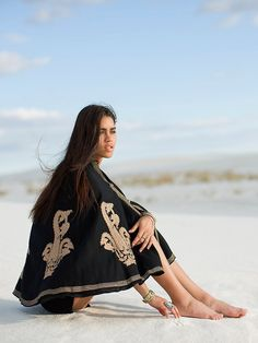 Free People Vintage Wool Embroidered Poncho, $428.00