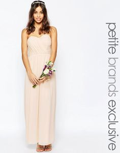 Image 1 of TFNC Petite WEDDING Bandeau Chiffon Maxi Dress
