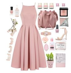 """""""Pink"""" by lotsofmuffins ❤ liked on Polyvore featuring Chi Chi, Herbivore, New Look, Boohoo, Crate and Barrel, Liliana, Neutrogena, Big Bud Press, OPI and Bobbi Brown Cosmetics"""