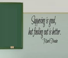 Mark Twain quote Classroom Wall Decal Class by iheartdecals