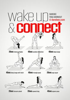 Wake Up Connect Workout Concentration - Full Body - Difficulty 4 - Suitable for . Wake Up Connect Workout Concentration - Full Body - Difficulty 4 - Suitable for Beginners --> zum optimalen Yoga Equ Yoga Fitness, Training Fitness, Fitness Workouts, At Home Workouts, Health Fitness, Yoga Workouts, Beginner Bodyweight Workout, Hiit, Fitness Diet