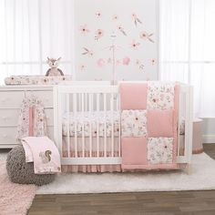 With the NoJo Countryside Floral Crib Bedding Set, you can decorate your nursery in matching harmony. Floral printed sheets and soft pink hues are full of botanical beauty and cute comfort that your little one can snuggle up with. Nursery Crib, Nursery Bedding Sets, Pink Bedding, Girl Nursery, Disney Nursery, Nursery Furniture, Bed Bath & Beyond, Floral Crib Sheet, Grey Crib