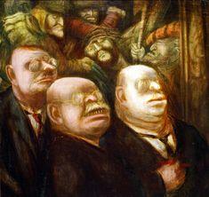Karl Hubbuch, Die Kunstrichter  The art judges (ca. 1928 - 30)