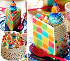 How to make a checkerboard rainbow cake colorful food cake rainbow color dessert diy dessert