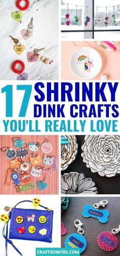 17 Most Fun DIY Shrinky Dink Craft Ideas Love shrinky dinks? Then you HAVE to see these amazing shrinky dink crafts. There are so many fun and creative things to make like necklaces, keychains, ring dishes, nametags and more! Shrinky Dinks, Craft Stick Crafts, Easy Crafts, Diy And Crafts, Kids Crafts, Cool Diy, Fun Diy, Crafts For Teens To Make, Crafty Kids