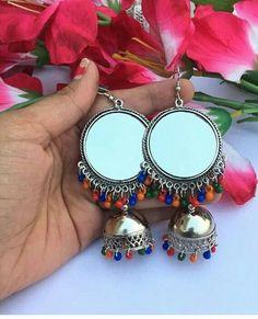Indian Jewelry Earrings, Silver Jewellery Indian, Indian Wedding Jewelry, Silver Jewelry, Stylish Jewelry, Fashion Jewelry, Traditional Earrings, Oxidised Jewellery, Silver Accessories