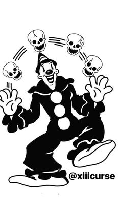 Retro Cartoons, Old Cartoons, Vintage Cartoon, Tattoo Drawings, Body Art Tattoos, Art Drawings, Horror Cartoon, Cartoon Art, Arte Horror