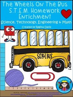 Flash Freebie: Wheels On The Bus S.T.E.M. Homework Enrichment.  Free until 8/10/15.  Enjoy! Regina Davis aka Queen Chaos at Fairy Tales And Fiction By 2.