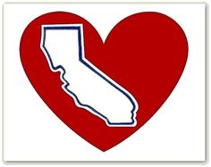 Halo Power California Heart Decal - pinned by pin4etsy.com