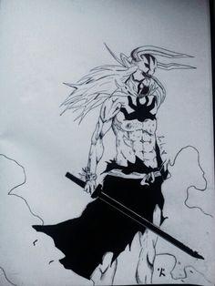 Ichigo Hollow form →Bleach My Drawings, Bleach, Art, Craft Art, Kunst, Gcse Art, Art Education Resources