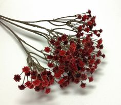 Burgundy RED Plastic Baby's Breath Gypsophila by BlissfulSilks