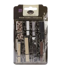 "Engraver Canvas/Wood Clothespins 1.25"" To 2.25"" 8/Pkg-"
