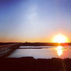 Sunset at Bridge of Quinta do Lago @quintadolago #algarve @ig_algarve_