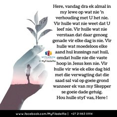 Home - MyFiladelfia Institute Counselling Training, Afrikaanse Quotes, Meet U, Goeie Nag, Goeie More, Inspirational Prayers, Living Water, Creative Lettering, Religious Quotes