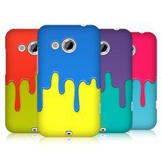 HEAD CASE DESIGNS COLOUR BLOCK MELTDOWN HARD BACK CASE COVER FOR HTC DESIRE 200
