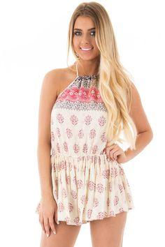 Lime Lush Boutique - Ivory Halter Romper with Berry Print, $46.99 (https://www.limelush.com/ivory-halter-romper-with-berry-print/)#fashion#spring#happy#photooftheday#followme#follow#cute#tagforlikes#beautiful#girl#like#selfie#picoftheday#summer#fun#smile#friends#like4like#pinterestfollowers