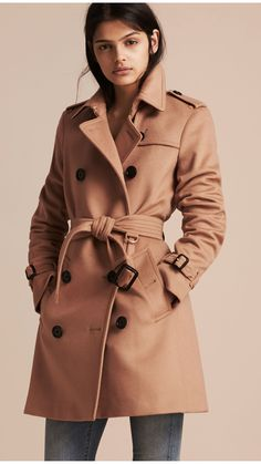 Wool Cashmere Trench Coat Camel | Burberry Canada