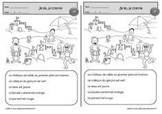 Je lis, je colorie - Cp - Exercices de lecture - Pass Education