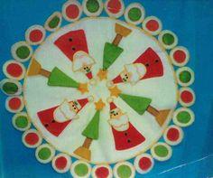 Molde: Centro de mesa Noel y Arbol navideño