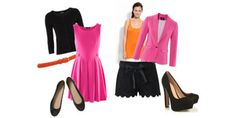 Pink, Black and Orange Prada