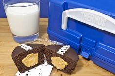 Hostess® with the Mostess: Hostess® Cupcake with Smooth Operator peanut butter filling and a cold glass of milk.