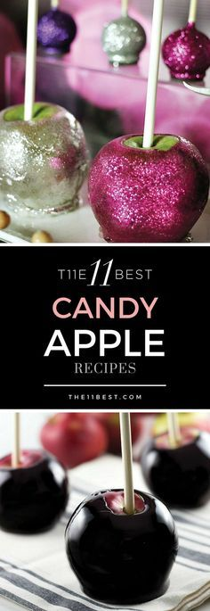 The 11 Best Candy Apple Recipes of all time - perfect for Halloween party desserts