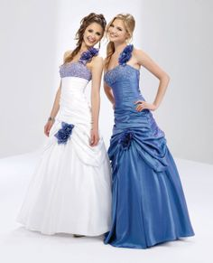 Attractive sleeveless ball gown floor-length home coming dress