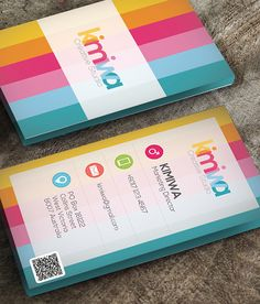 Colorful business card by Kimi Wa in Showcase of 50 Creative Business Cards