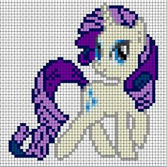 Rainbow Dash Sprite based on the art of the TV series My Little Pony. Made specifically for beadspriting and/or cross-stitching.