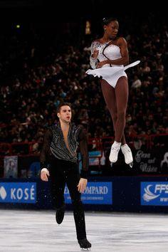 Vanessa James and Morgan Cipres Black Couples, Cute Couples, Ice Skating, Figure Skating, Vanessa James Morgan Cipres, Skates, Interacial Couples, Black Ballerina, Sports Personality