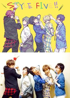 Free! Seiyuus vs Fan art part 2! OMG MIYANO O///O