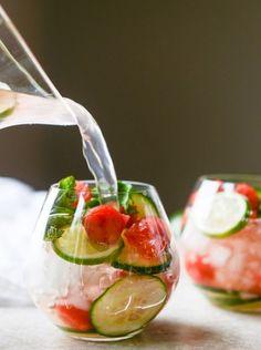 cucumber and watermelon sangria (original cucumber sangria recipe at http://www.bhg.com/recipe/cucumber-sangria/)