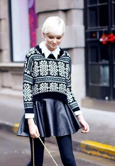 Love the pattern & texture.  #streetstyle Nordic stripes pattern