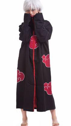 Mlianby Unisex-adult Naruto Anime Cosplay Costume Cloak Uniform (Collar Cloak ) L