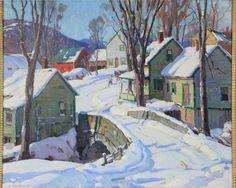"""Village Road in Vermont,""  Aldro Thompson Hibbard, oil on canvas, 29 1/2 x 34 1/2"", private collection."