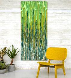 greenpower | Collection Felt Paintings | Felt Good by Ellen van der Wiel. Merino, silk and bamboo. So cool! Love it