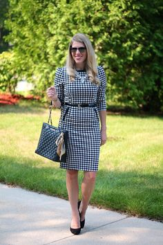 Confident Twosday: Houndstooth Dress