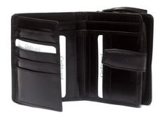 Neptune Giftware Ladies Luxury Handmade Italian Black Calf Leather Notes, Coin & Credit Card Wallet Purse - Holds 11 Cards Neptune Giftware. $49.99
