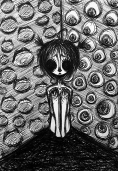 Creepy Drawings, Dark Art Drawings, Dark Art Illustrations, Art Drawings Sketches Simple, Cool Drawings, Indie Drawings, Pencil Art Drawings, Arte Grunge, Grunge Art